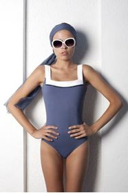 Bund one piece swimwear の画像