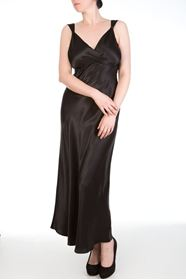 Picture of Viola Jet Drapped back gown
