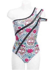Picture of Entre Dos Mundos one shoulder one piece swimwear